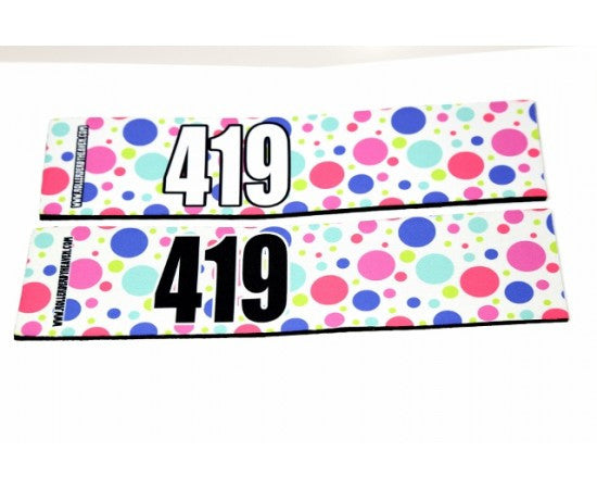 Number Arm Bands Deluxe- Polka Dots