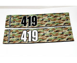 Number Arm Bands Deluxe- Camo