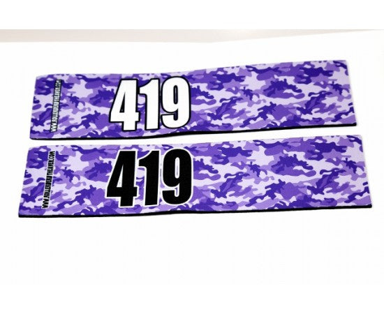 Number Arm Bands Deluxe- Camo Purple