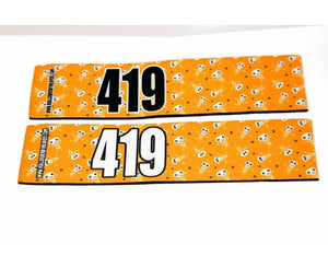 Number Arm Bands Deluxe- Tangerine Skull
