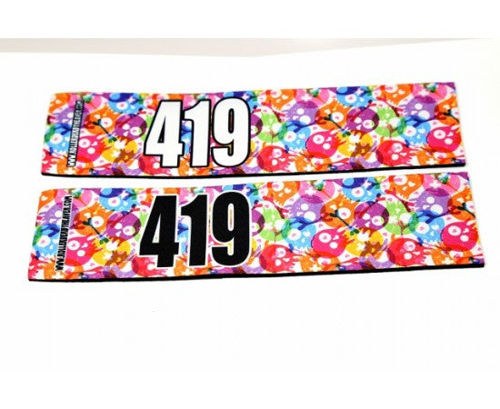 Number Arm Bands Deluxe- Skulls Bright