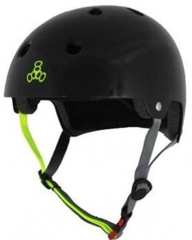 Triple 8 Certified Helmet Black W/Zest Gloss