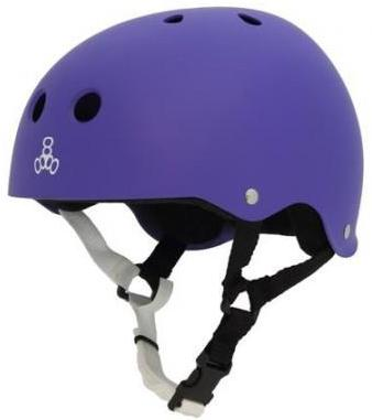 Triple 8 Brainsaver Helmet Purple Rubber