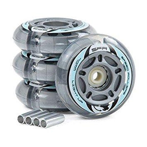 SFR Light Up Inline Wheels Silver 4pk