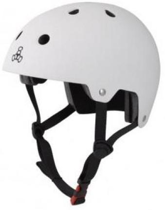 Triple 8 Certified Helmet White Rubber