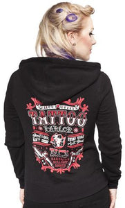 Sourpuss Sailor Betty Black Hoodie Jacket
