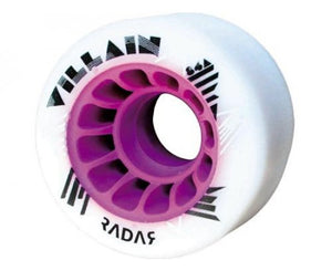 Radar Villain White Wheels 59mm 84a 4 Pack Narrow
