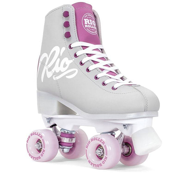 Rio Roller Script Roller Skates Grey and Purple