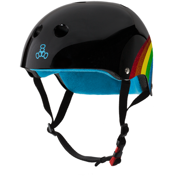 Triple 8 THE Certified Helmet SS Rainbow Sparkle Black