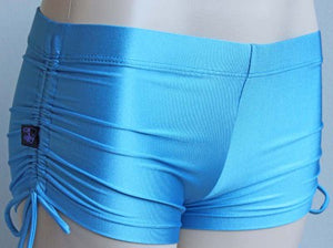 Deby Damage Multisnatch Booty Shorts Azure Blue Size Medium