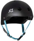 S1 LIFER HELMET MATTE BLACK/ LIGHT BLUE SMALL