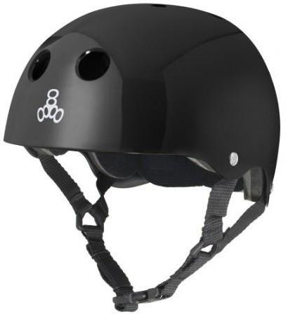 Triple 8 Brainsaver Helmet Black Gloss W/Black