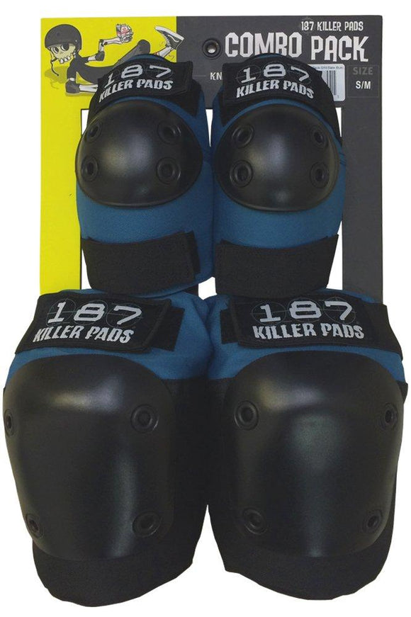 187 Adult Combo Pack Slate Blue (Knee & Elbow)