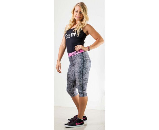 Sassfit Snake Skin 3/4 Compression Tights