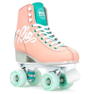 Rio Roller Script Roller Skates Peach and Green