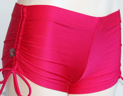Deby Damage Multisnatch Booty Shorts Red XSmall