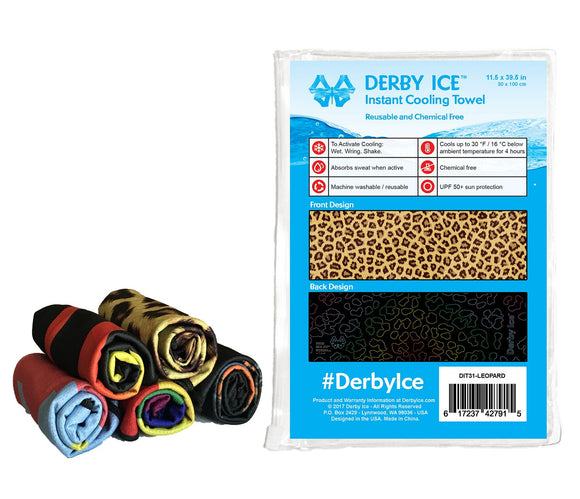 Derby Ice Towel Leopard Pattern
