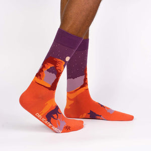 Sock it to Me Delicate Arch Mens Crew Socks