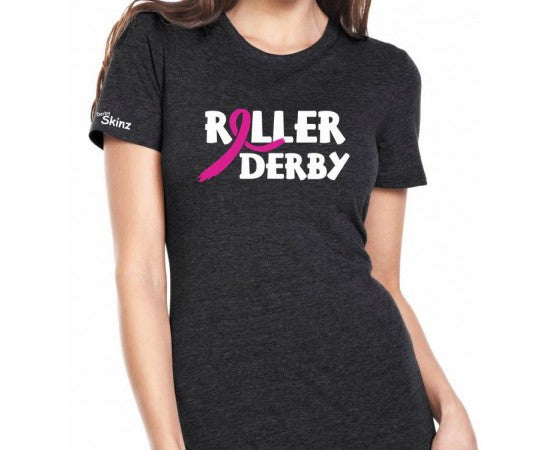 Derby Skinz Roller Derby Ribbon Womens Shirt