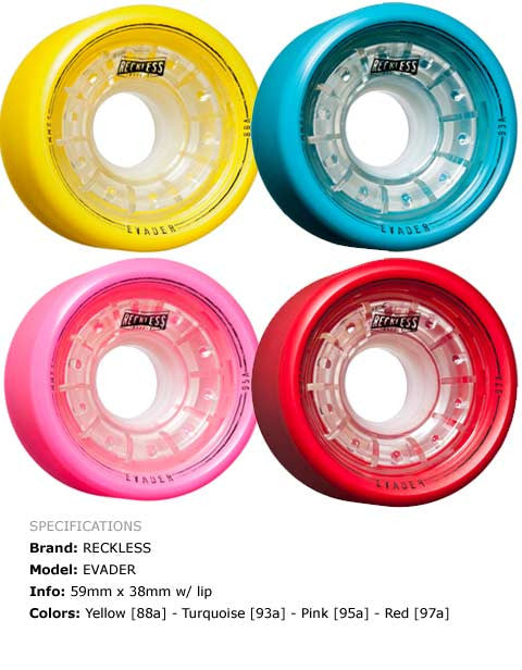 Grn Mnstr Reckless Evader 59mm 4 Pack