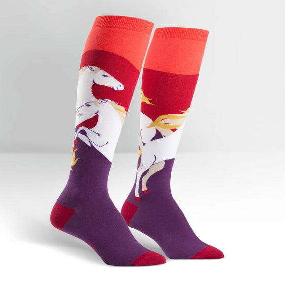 Sock it to Me Wild Horses Knee High Socks