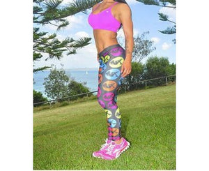 Sassfit Roller Derby Girl Bright Full Length Compression Tights