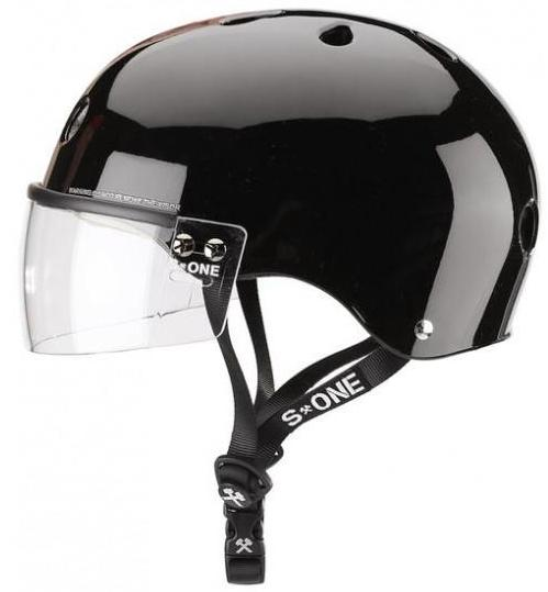 S1 Visor Lifer Helmet Black Gloss