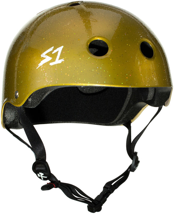 S1 Lifer Helmet Gold Glitter SMALL