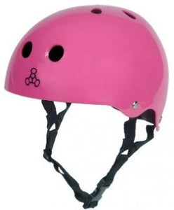 Triple 8 Brainsaver Helmet Pink Gloss W/Blk