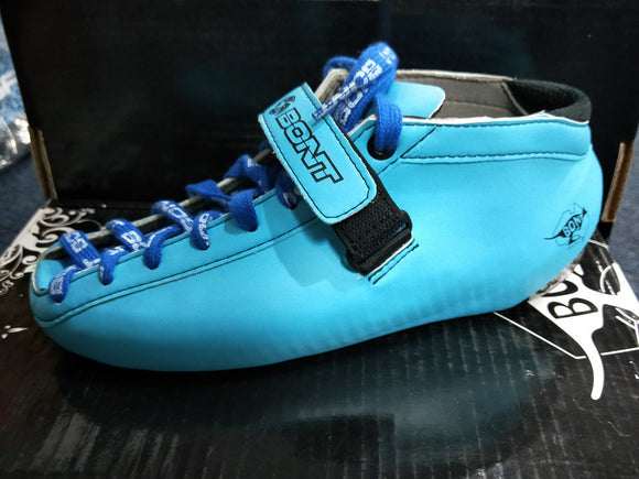 Bont Hybrid Carbon Light Blue Boot Size 6