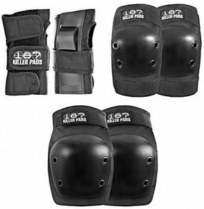 187 Junior Pad Set Black (Knee, Elbow, Wrist)
