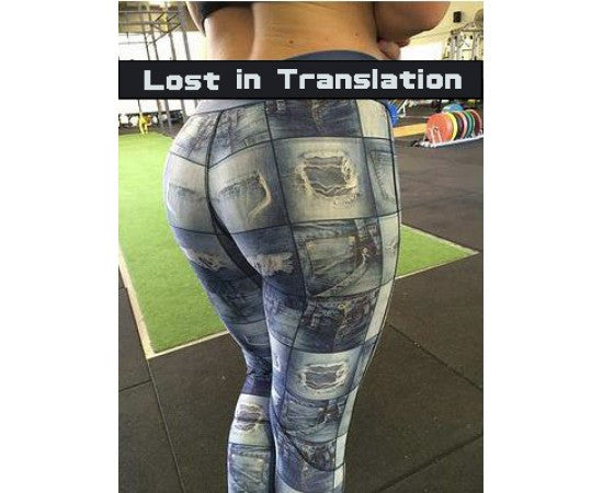 Sassfit Lost In Translation Full Length Compression Tights