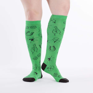 Sock it to Me Lucky Knee High Socks