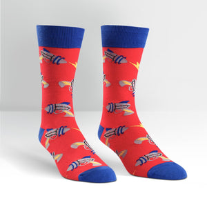 Sock it to Me Rayguns Mens Crew Socks