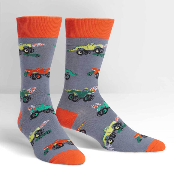 Sock it to Me Monster Trucks Mens Crew Socks