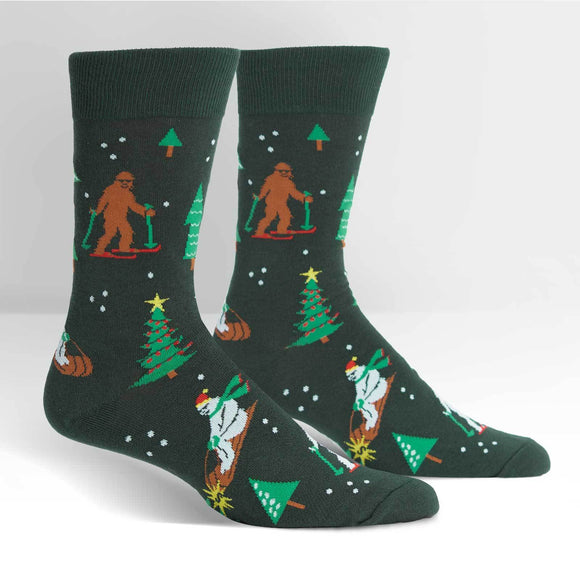Sock it to Me Ready, Yeti, Go! Mens Crew Socks