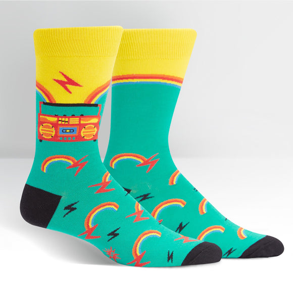 Sock it to Me Roller Disco Mens Crew Socks
