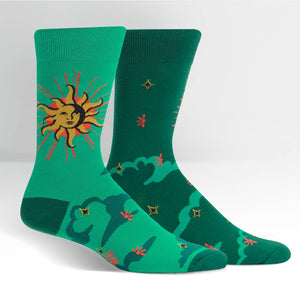 Sock it to Me Sun and Moon Mens Crew Socks