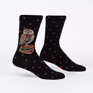Sock it to Me Reading is a Hoot Mens Crew Socks