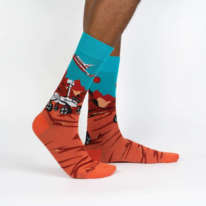 Sock it to Me Mars Rover Mens Crew Socks