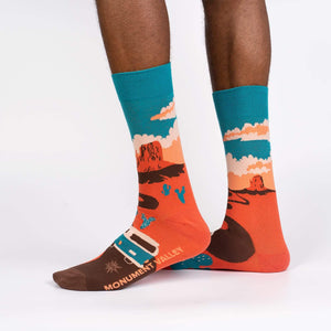 Sock it to Me Monument Valley Mens Crew Socks