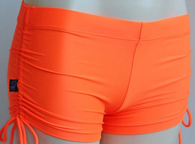 Deby Damage Multisnatch Booty Shorts Orange