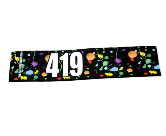 Number Arm Bands Deluxe- Paint Splatter