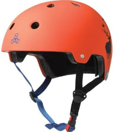 Triple 8 Certified Helmet Switzer Pro Orange Rubber