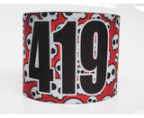 Number Arm Bands Deluxe- Round Skulls