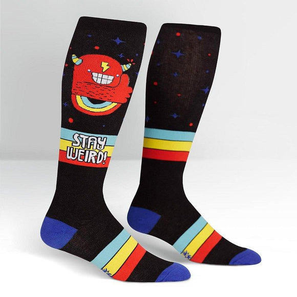 Sock it to me Stretch Stay Weird! Knee High Socks