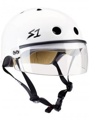 S1 Visor Lifer Helmet White Gloss