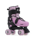SFR Nebula Lights Kids Adjustable Quad Skates -  Pink w Light up Wheels