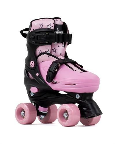 SFR Nebula Kids Adjustable Quad Skates - Black Pink