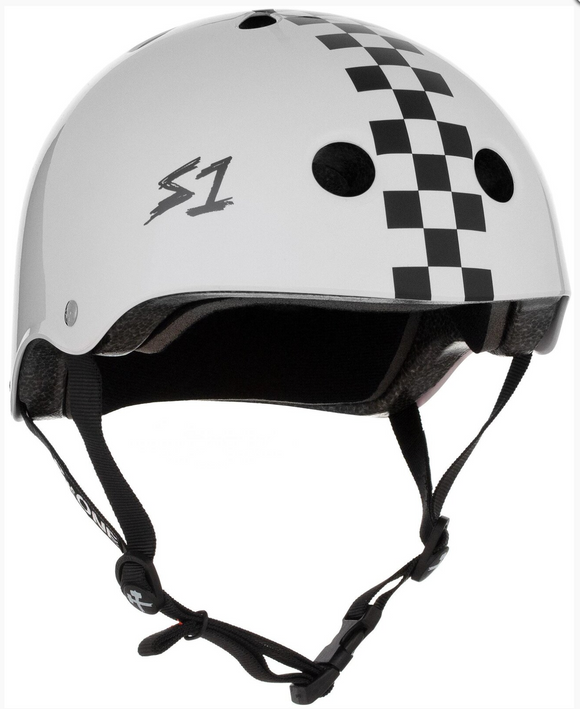 S1 Lifer Helmet White w/ Checker Gloss